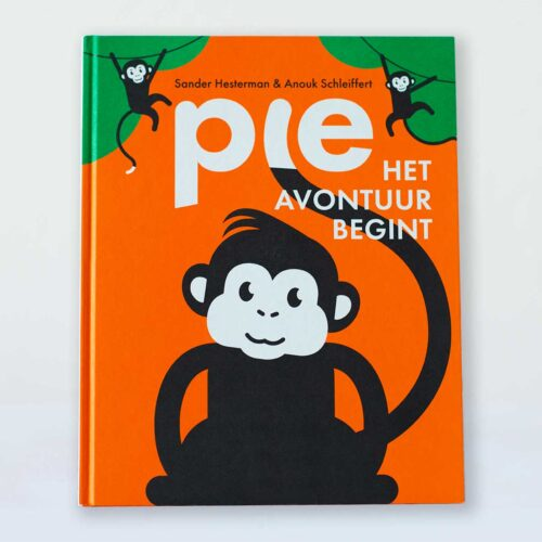 Prentenboek Pie het avontuur begint Aapje kraamcadeau